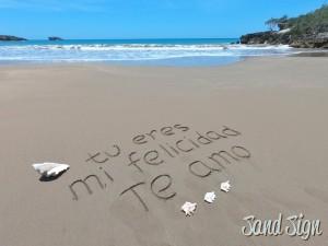tu eres mi felicidad. Te amo