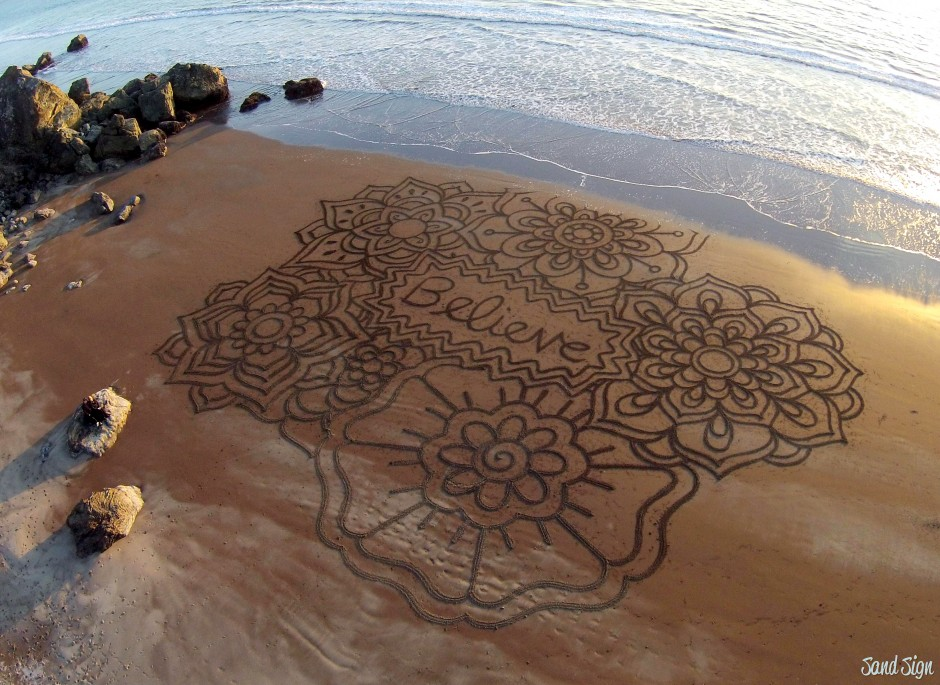 Андрес Амадор, Калифорния, масштабная надпись, искусство
