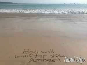 Bali will wait for you, Amber!