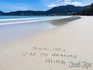 Sabi, I❤️u, U re my destiny. Alina